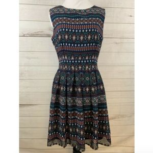 Altar'd State Aztec Fit and Flare Dress Sleeveless